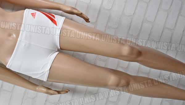 adidas アディダス JD1046 ショートボックス水着 男子競泳水着 ホワイト・オレンジ