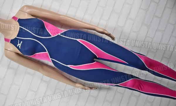 2014限定モデル MIZUNO ミズノ N2JG4Y10 MIGHTYLINE2 マイティライン2 ロングスパッツ KX 女子競泳水着 ネイビー・ピンク