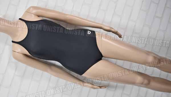 ARENA アリーナ ARNC76WJB 黒パイピングワンピース水着 女子競泳水着 ブラック