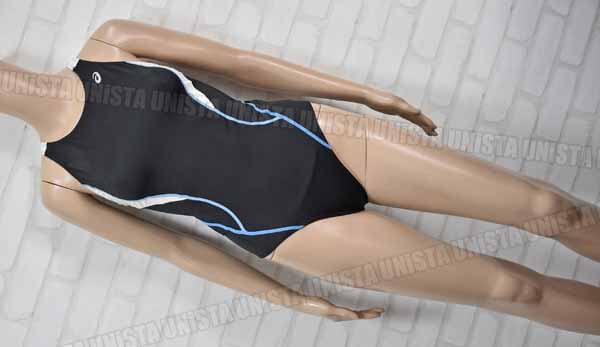ASICS アシックス AFL101 コアバランス COMFOSKIN 女子競泳水着 ブラック・ホワイト