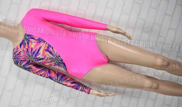 SASAKI ササキスポーツ 女子体操競技 ロングスリーブレオタード ナイロン製 ピンク