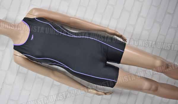 SPEEDO スピード SD36N21A ショートスパッツ型 ワンピース水着 女子競泳水着 ブラック・パープル