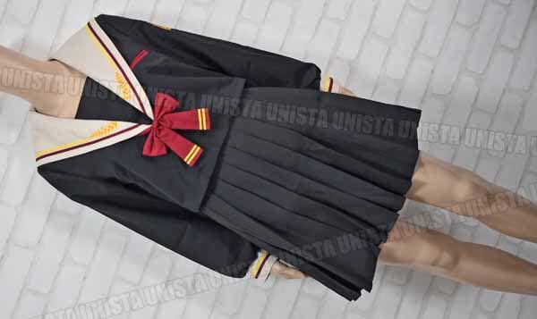 XIAO JIN 小瑾 学生服 セーラー服 コスプレ衣装 ブラック・ベージュ