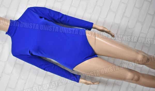 CAPEZIO カペジオ RN-63356-2 ナイロン製 バックジップ型 クロッチホック 女子体操競技 ロングスリーブレオタード 無地 ブルー