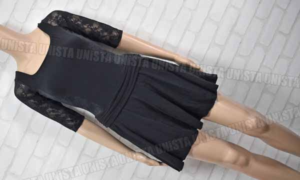 Chacott チャコット NO.0653-10025 女子バレエ・ダンス スカート付きレオタード レース ブラック