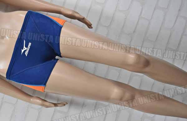 MIZUNO ミズノ MIGHTYLINE マイティライン ショートボックス水着 男子競泳水着 ネイビー オレンジ