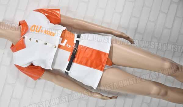 au by KDDI エーユー ハイレグレオタード 携帯会社キャンペーンガール風コスチュ1ーム コスプレ衣装