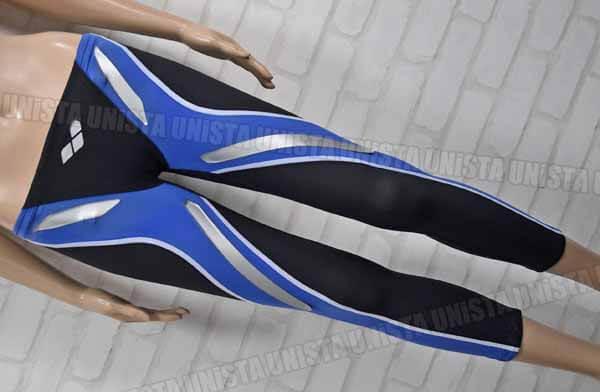 ARENA アリーナ FAR-9507M AQUAFORCE LITE アクアフォースライト ロングスパッツ 男子競泳水着 ブラック ブルー