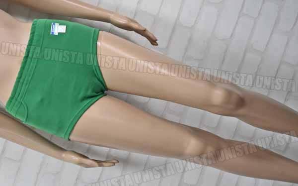 MARUKOO マルコー ナイロン100% 高伸縮性 女子スポ-ツニットショーツ スポーツブルマー ポケット有 グリーン